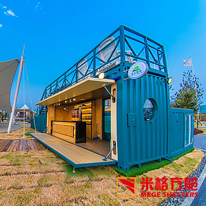 Portable Cabin Container Bar with Swimming Pool