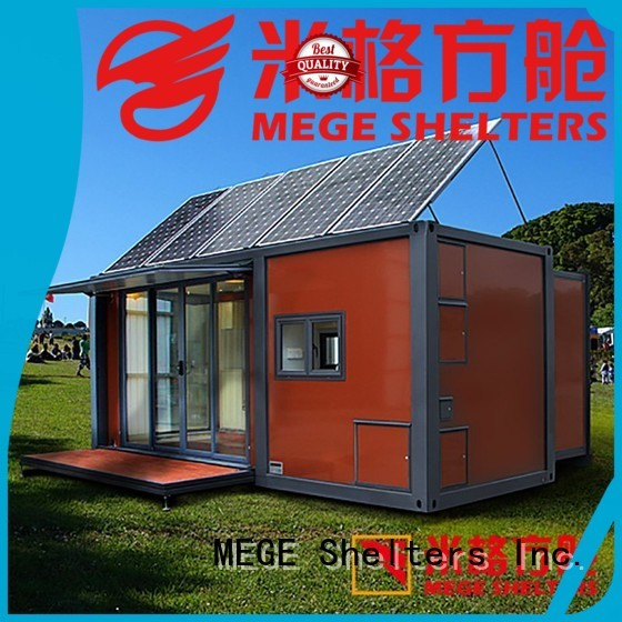 police camp OEM houses out of shipping containers MEGE