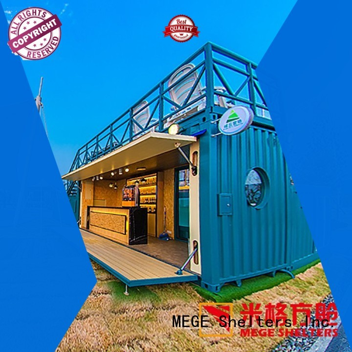 MEGE Brand folding houses out of shipping containers coffee factory