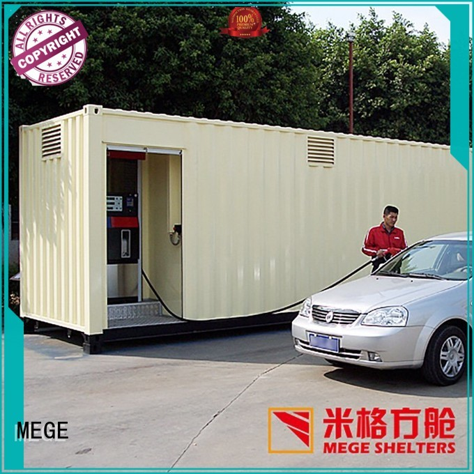 MEGE Brand toilet folding shop houses out of shipping containers manufacture
