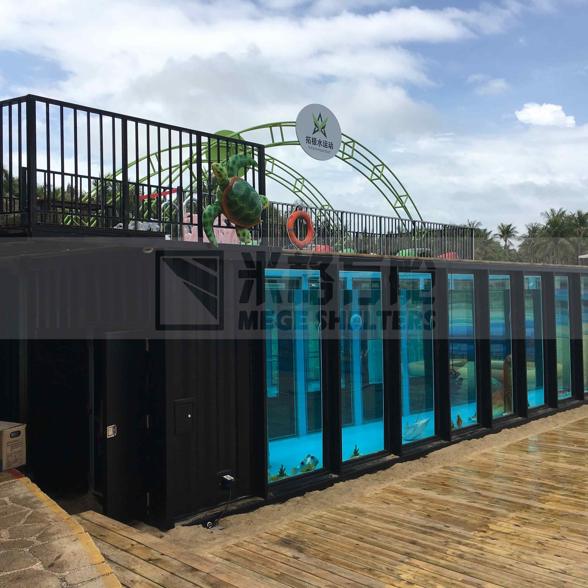 Double Shipping Container Pool