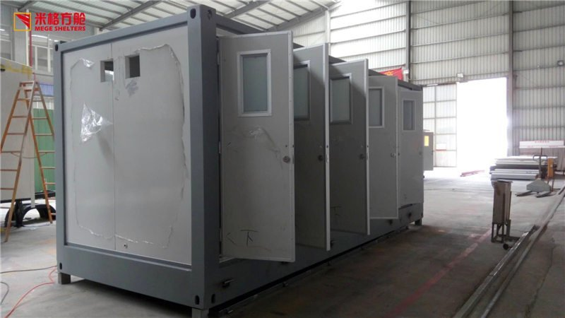 5 rooms container toilet