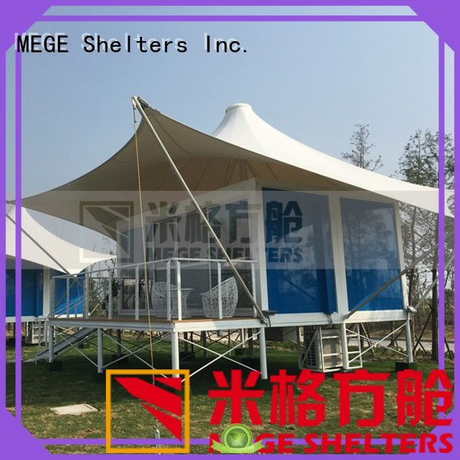 MEGE Brand honeycomb pool shipping container homes gel supplier