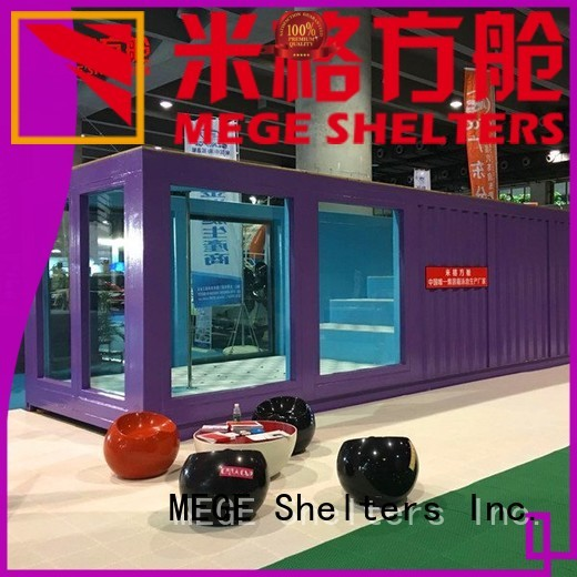 folding food houses out of shipping containers fast MEGE company