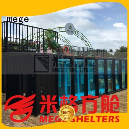 bathtub toilet shipping container homes mege MEGE company
